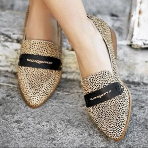 Sole Society Dotted Calf Hair heeled Loafer